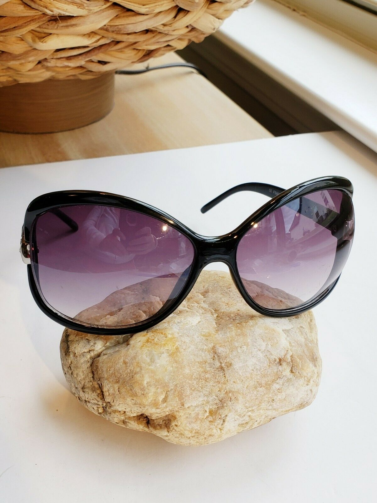 Franco Sarto Eyewear Sunglasses Black Design Oversized Butterfly CE FS8007-0141