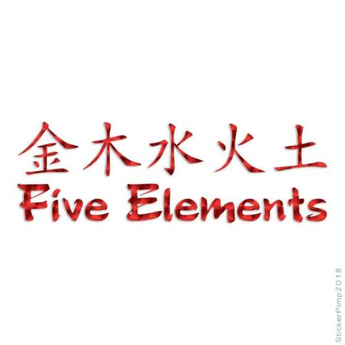 Size #2615 Five Elements Chinese Decal Sticker Choose Pattern