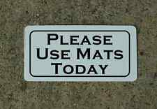 PLEASE USE MATS TODAY Metal Sign Golf Driving Range