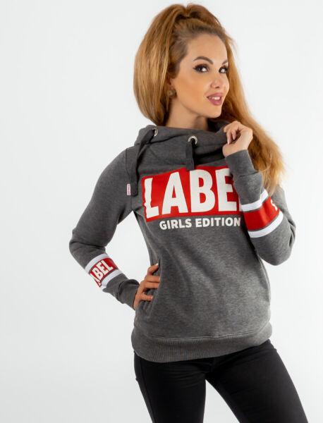 Label 23 Pullover Damen Frauen Sweatshirt Hoodie Sportpullover Sport Svenja grau