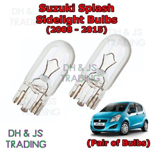 Suzuki Splash Front Sidelights 08-15 Parking Lights Side Light Bulb Bulbs