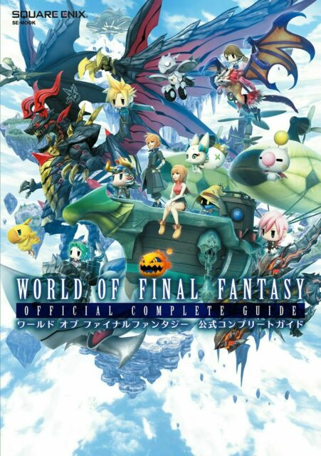 World of Final Fantasy Official Complete Game Guide Book Ps4 W/code