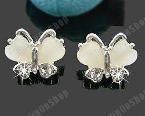 COMFY U CLIP ON DIAMANTE crystal BUTTERFLY EARRINGS