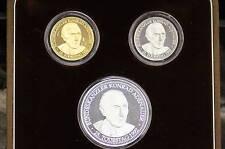 Gold-Silber-Platin Münzen Konrad Adenauer BRD 1992 PP Kein Bruchgold/Zahngold
