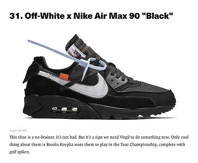 OFF WHITE x Nike Air max 90 'Black' e 'Desert' 'The Ten' | eBay