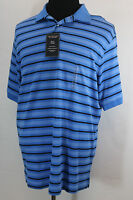 Roundtree And Yorke Polo Stripe Palace Blue Size L