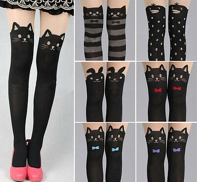 Sexy Girl's Pantyhose Design Pattern Printed Tattoo Stockings Tights Leggings