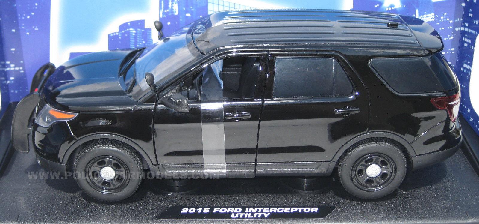 Motormax 1 18 Ford Pi utilidad policía Sport Utility Vehicle nero slicktop caso de cuatro