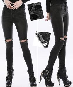Gothic Torn Fashion Pantaloni Punk Punkrave Jeans Destroy Lolita Swag PwwfT