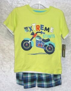 Kids-Headquarters-Boys-Tee-Shorts-2-Piece-Set-Short-Sleeve-Kids-size-6-NEW