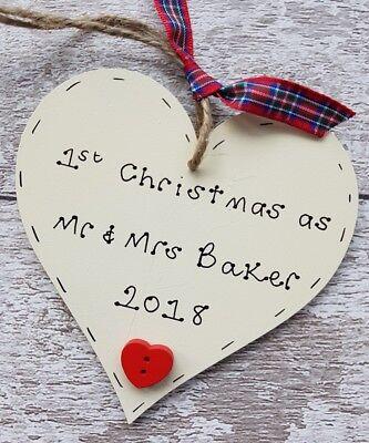 1st Natale Come Marito E Moglie 1st Decorazione Di Natale Matrimonio Personalizzato-mostra Il Titolo Originale