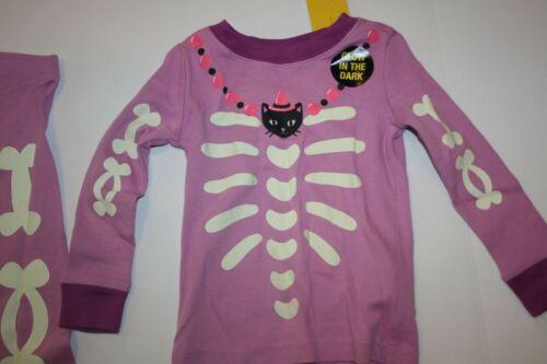 New TCP Girls Children/'s Place Purple Skeleton Bone Halloween PJs 2 Piece 12-18m