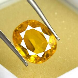 Cushion 5.95 Ct Natural Padparadscha Orange Sapphire Gemstone Certified A66825
