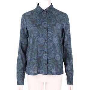 Dries-Van-Noten-Blue-Black-Floral-Illustration-Shirt-FR36-UK8