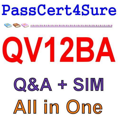 QlikView 12 Business Analyst Certification QV12BA Exam Q/&A PDF+SIM