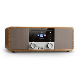 Radio-internet-numerique-WIFI-Streaming-Bluetooth-Lecteur-CD-MP3-USB-Design-bois