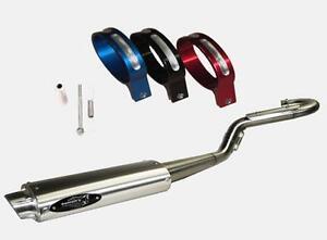 details about barker full single inframe exhaust aluminum black clamp ltz400 ltz 400 z400