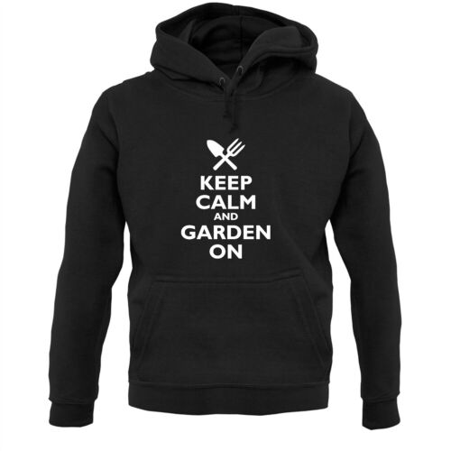Hoodie // Hoody Keep Calm And Garden On Gardening Lanscaper Landscaping