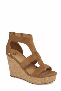 d950d9819c1 Details about NEW UGG Australia Women's Whitney Wedge Sandal Chestnut Size  9.5