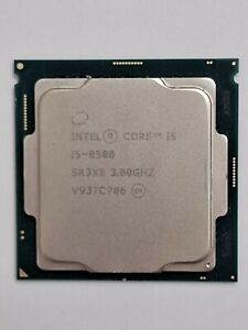 Intel 8th Gen i5-8500 (SR3XE) 1151 socket processor. Clean pulls. Tested.