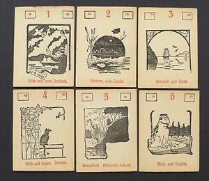 Details about Vintage 1950 Lenormand Fortune Telling Oracle Cards Deck Vtg  Germany