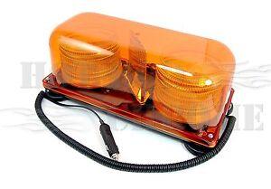 Amber-Colored-Magnetic-Mount-Mini-Strobe-Light-Bar-Truck-Trailer-Hazard-Alert
