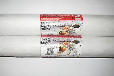 1 Rolle 1mx10m Papier Tischdecke Tischtuch Weiß Geburtstag Dekoration