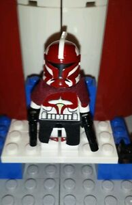 Lego Helmzubehör rot Star Wars Figuren Clone Trooper Commander Zubehör Visier