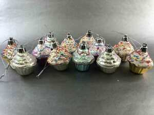 Lot-12-of-Colorful-Cupcakes-Ornament-039-s-The-Perfect-Bite-Size