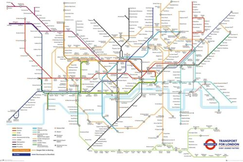 Transport For London Underground Map Maxi Poster 61 x 91,5 cm