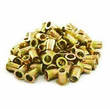 New 100 Piece Rivet Nut Rivnut Inserts Nutsert 516 Blind Rivets Steel Rivnuts