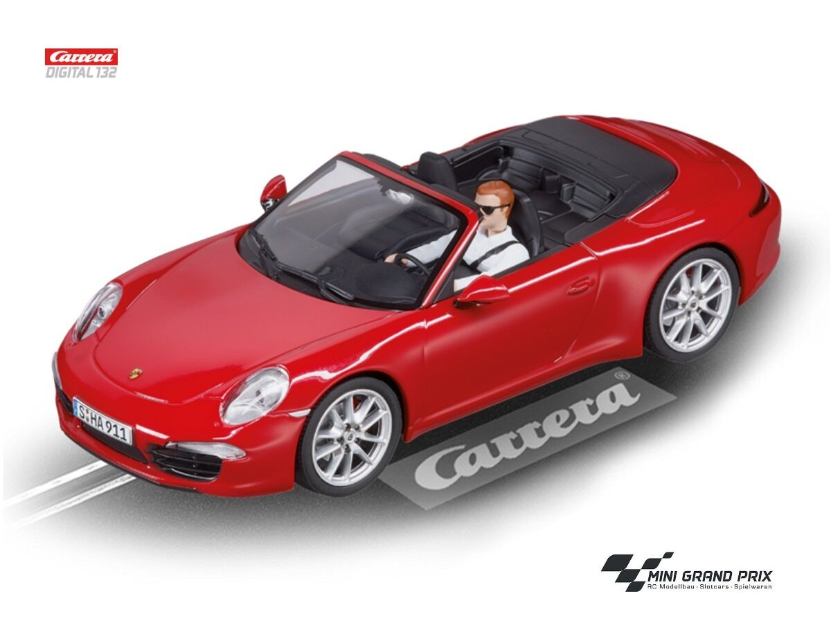 Carrera Digital 132 Porsche 911 Carrera S CABRIOLET Rosso 30772