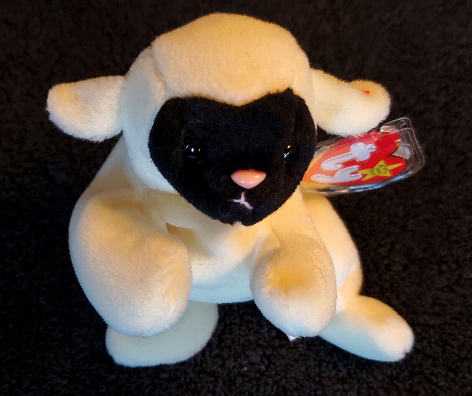 CHOPS the Lamb Sheep - DERBY tush tush tush tag - Ty Beanie Babie Baby 92cd53
