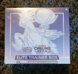 Pokemon TCG Sword and Shield Chilling Reign ETB Elite Trainer Box IN HAND!