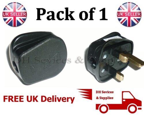 Nouveau UK 3PIN 5 Amp Plug Fondue Ajustée Noir Secteur 240 V Fiche 5Amp BS1363
