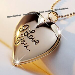 Image Is Loading Black Friday Deal Rose Gold Love Heart Locket