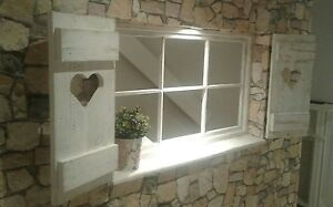 Esszimmer Dekoration Set : Shabby sprossenfenster set fensterläden deko esszimmer foto