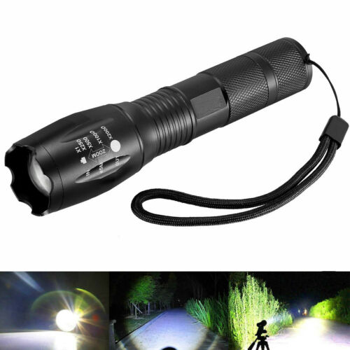 Police T6 LED Torch Bright USB Rechargeable Flashlight Zoom Camping Lamp 18650