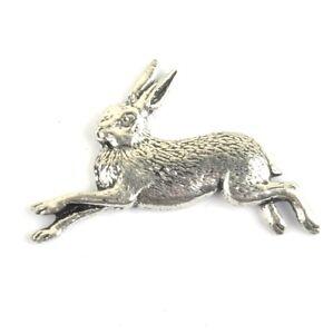 Running-Hare-Pewter-Pin-Badge-Bird-Woodland-Vtg-Style-Retro-Classic-Heritage