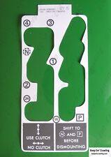 John Deere R55292 Quad Range Shift Pattern Decal 4030 4230 4430 4630 8430 8630