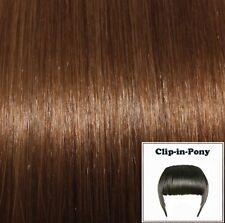 Clip-In-Pony goldbraun#07, Premium-Remy-Echthaar, Haarpony mit Clips