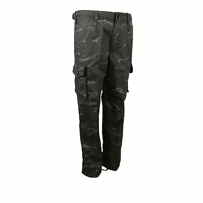 Camouflage Kids BTP Black Tactical Trousers - Army Combat Military Camo Cadet