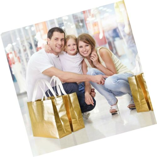 Details about  /12 Pack Stylish Reusable Shopping Bag Glossy Glitter Reusable Grocery Bag wit...