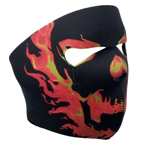 Flaming Skull Full Face Mask Motorcycle Paintball Snowboarding Ski Skiing Biker