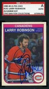 Larry-Robinson-1982-83-OPC-SGC-Coa-Autograph-Authentic-Hand-Signed