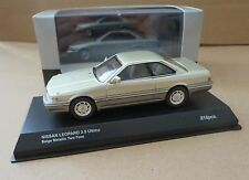 Kyosho 1:43  Nissan Leopard 3.0 Ultime beige metallic two-tone 3122BE. Brand new
