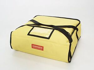 """Pizza Delivery Bags (Holds up to Three 12"""" or Two 14"""" Pizzas) Yellow"""