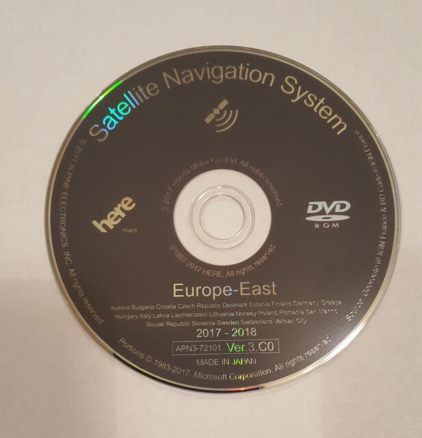 LATEST 2018 HONDA SAT NAV DISC MAP UPDATE DVD VER 3 C0 EAST EUROPE