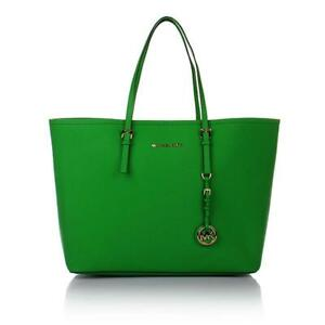 Michael-Kors-Jet-Set-Palm-Green-Saffiano-Leather-Tote-Shoulder-Bag