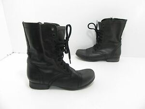 33229990f7e Details about Women's Steve Madden Troopa Lace Up Combat Boot in Dark Green  Size 7 M